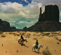 Vtg Postcard Monument Valley Navajo Reservation Indians Riding Horses Unposted