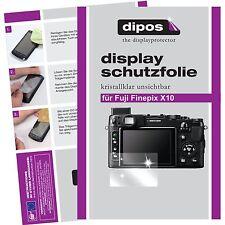 6x dipos Fujifilm Finepix X10 klar Displayschutzfolie Crystalclear unsichtbar