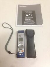 Olympus W-10 Digital Voice Recorder Camera With Manual & Case