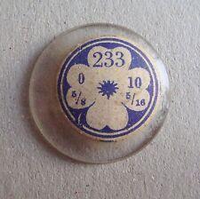VUS OPEN FACE Pocket Watch Glass Crystal NOS Cristal Vetro Verre 233 10 linge
