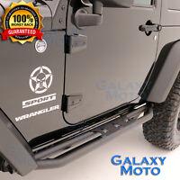 Tubular Step Armor Rock Slider Rocker Guard Nerf Bar fit 07-17 Jeep Wrangler JK