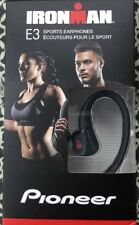 Pioneer BLACK Ironman E3 Sweatproof Sports Stereo Earphones Headphones SE-E3M(B)