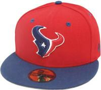 New Era Houston Texans Red 2 Tone Cap Team Back 59fifty Fitted Edizione Limitata