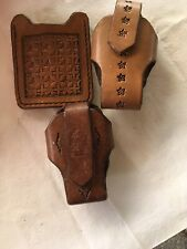 Lot Of Handcrafted Leather Items-3