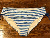 ARIZONA JEAN CO. Womens BLUE WHITE STRIPE Swimwear  Bikini Bottom SIZE XXL 20.5