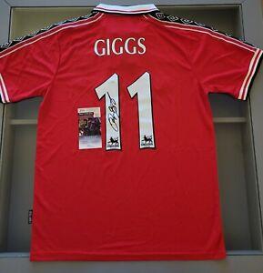 Ryan Giggs Signed Manchester United 98/99 Treble Season Umbro Jersey (JSA)