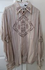 English Laundry Mens Long Sleeve Shirt Size XL Embroidered Stunning