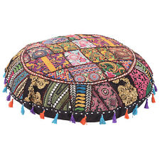 Indian Patchwork  Pouf cushion Ottoman cover Pillow Cover Pillow Sofa floor 32""