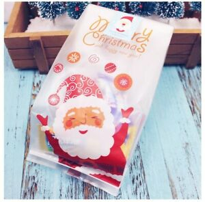 50 pcs Xmas Candy Packaging Bags Cookie Biscuit Gift Bags Christmas bag