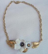 Vintage France Flower Necklase Lucite Couture RUNWAY Signed Louis Feraud Paris