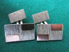 Vintage 916 Silver & gold Cufflinks