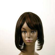 perruque afro femme 100% cheveux naturel carré méchée noir/cuivré JACKIE 02/1b30