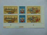 """DDR Sechserblock ** aus 2 Dreierstreifen """"Briefmarkenaus. Cottbus"""" 1978 Mi 2343f"""