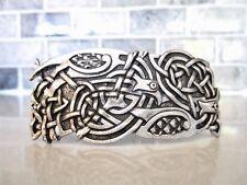 Silver celtic knot viking metal dragon filigree hair clip barrette
