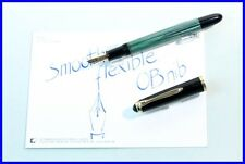 1962 PELIKAN 400NN green-striped Pen with smooth flexible OB Nib in 14C 585 Gold
