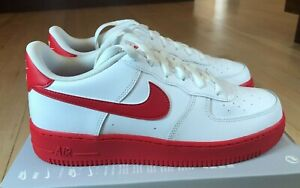 Nike Air Force 1 GS White University Red White CV7663 101 Size 5Y