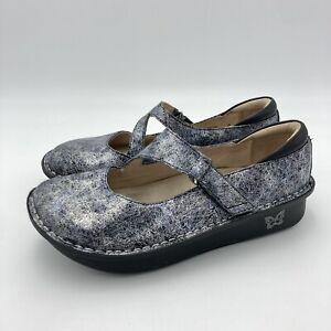 Alegria Mary Jane Metallic Shoes Dayna Ice Ice Baby Day-735 Size 38 US 8/8.5