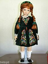 "Royalton 18 Inch Porcelain Doll ""COLLEEN"" Green Dress - Red Hair - Org. Box"