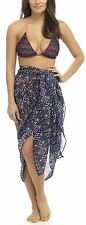 Tom Franks Ladies Printed Sarong One Size Blue