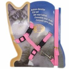 Cat Kitten Adjustable Harness Collar Durable Animal Walking Lead Pet Rabbit Pink
