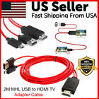 Micro USB MHL To HDMI 1080P Cable TV Out Lead For Android Samsung Phones Male
