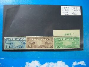 SCOTT #C7-8-9 XF  MINT NEVER HINGED EARLY AIR MAIL STAMP 3 TOTAL