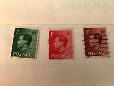 3 X British Stamps Edward 8 Viii