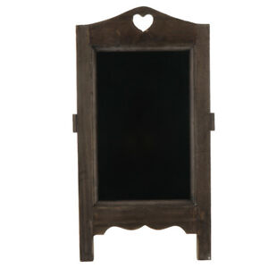 Desktop Records Board With Wooden Stand Reusable Chalk Board Black Board