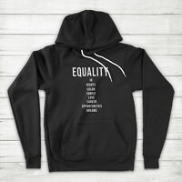Equality Black Lives Matter LGBTQ Equal Rights Tolerance Justice Pullover Hoodie