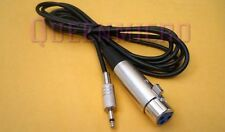 """10Ft XLR 3-Pin Female to 3.5mm 1/8"""" Mono Plug Mic Microphone Audio Cable 10' Ft"""