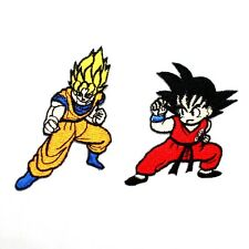 Lot 2 Dragon Ball Z GT Goku Super Saiyan God COMIC CARTOON RARE IRON ON PATCH