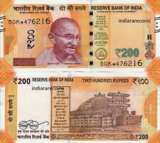 INDIA 2018 200 Rs Star Replacement 5GK Gandhi Series No Inset Bank Note UNC NEW