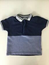 952ccdf1011 Hugo Boss Boys Short Sleeve Collared Polo Top Age 12M Blue Navy White Smart