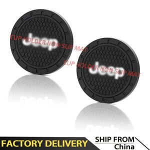 2PCS 2.75 inch Vehicle Travel Auto Cup Holder Insert Coaster Mat Fit For Jeep