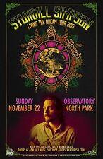 "STURGILL SIMPSON ""LIVING THE DREAM TOUR 2015""SAN DIEGO CONCERT POSTER-Roots Rock"