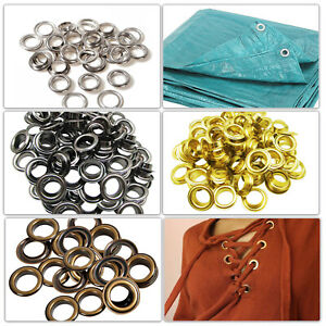 Round 14mm - 20mm Iron Eyelets Ring Washers Grommet for DIY Tarpaulin Banner