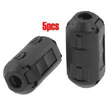 5 pz Filtro in ferrite clip on nero RMI RFI diametro 5 mm     HKIT