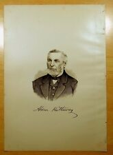Antique Print 1883 ALDEN HATHAWAY, JR. Freetown, MA PORTRAIT Massachusetts