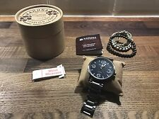 Kahuna Mens Blue Dial Metal Strap Watch With 3 Bracelets Gift Boxed