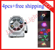4pcs 8*3W RGBW Cree Led Gobo Light DJ Disco Stage Effect Light Free Shipping