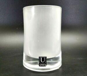 Umbra Vapor Tumbler Bathroom Glass Holder Frosted Cup