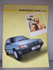 PEUGEOT 205 - 3-door brochure a colori 1985