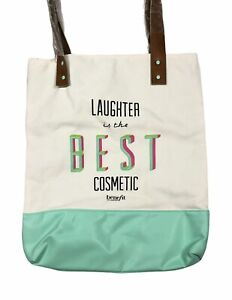 """Benefit Cosmetics SF """"Laughter is the Best Medicine"""" Lined Canvas Tote Bag"""