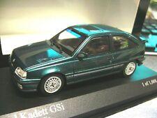 OPEL Kadett E GSI 3 Türer grün blau met 1989 RAR Minichamps RAR SP  1:43