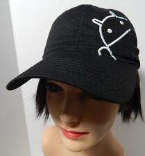 Android Robot Black Cotton Adult Baseball Cap Hat
