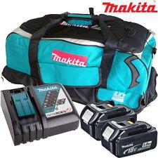 Makita 2 x BL1850 BATTERIA + Caricabatterie DC18RC + LXT600 Borsa Makita DDA350Z, DDA351Z