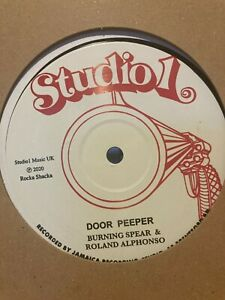 """Burning Spear - Door Peep ext mix / Willie Williams - All the Way Studio One 12"""""""