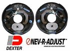"2- 10"" Dexter 3500 Nev-R-Adjust Electric Trailer Brake Never Adjust Pair Self"