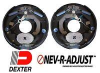 """2- 10"""" Dexter 3500 Nev-R-Adjust Electric Trailer Brake Never Adjust Pair Self"""