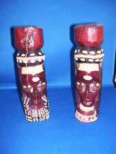Set of Jamacian Wooden Totems